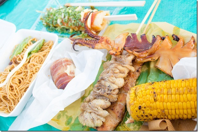 芦屋花火大会で買い食い