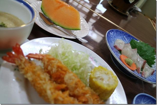 筋湯温泉 名山の夕食
