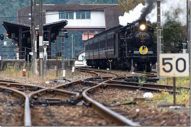 津和野駅 SLやまぐち発車