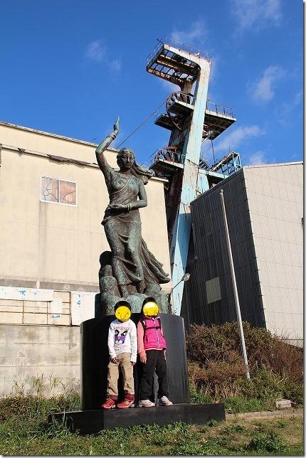 池島炭鉱 第2竪坑櫓 女神像