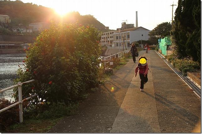池島の夕日
