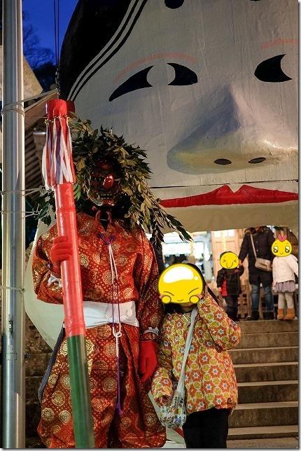 飯盛神社の天狗?赤鬼?