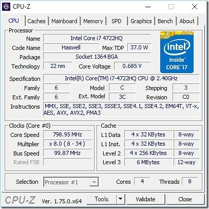 FUJITSU FMV LIFE BOOK AH77/U CPU 第4世代