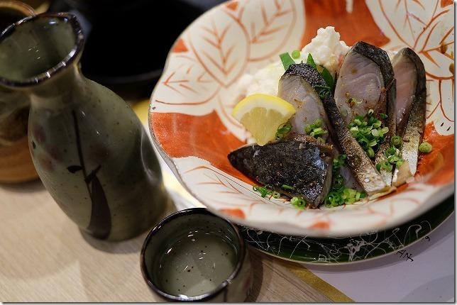 木の葉モールの寿司屋、小野のポテサバ
