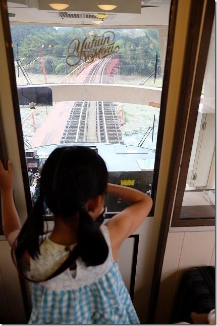 ゆふいんの森号で子供と鉄橋を渡る