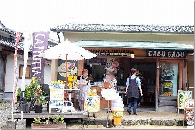湯の坪街道でGABUGABUで丸ごとフルーツジュース
