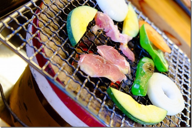 宇戸の庄の夕食・キジの炭火焼き