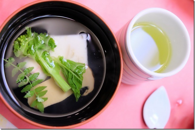 嬉野温泉、華翠苑の夕食、松茸