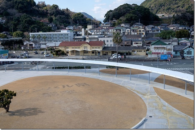 三角駅周辺の海のピラミット、直売所を散策(天草旅行1日目)