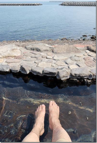 別府海浜砂湯の足湯