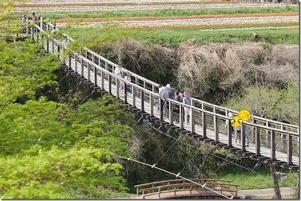 原尻の滝の吊橋