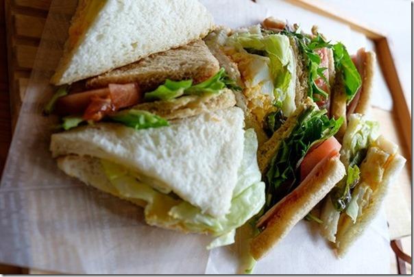 別府カフェ和倉、サンドイッチ