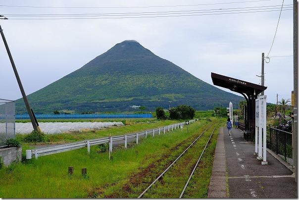 JR最南端の駅の西大山駅から開聞岳