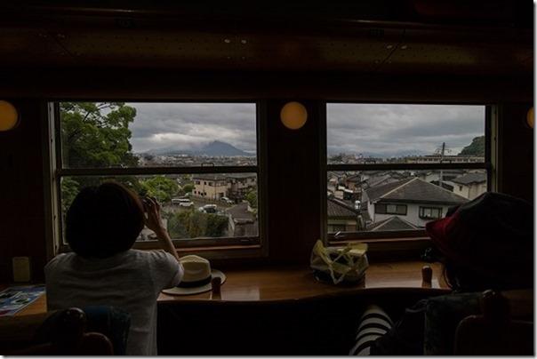 指宿のたまて箱から桜島