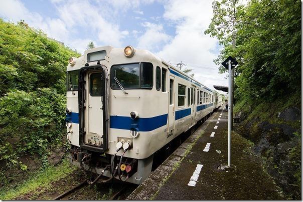 頴娃大川(えいおおかわ)駅に到着