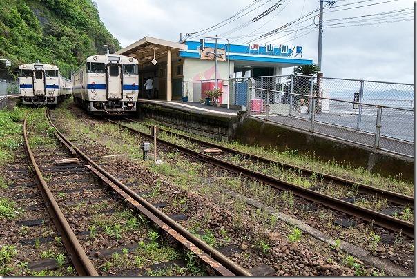 日本最南端の有人駅、山川駅