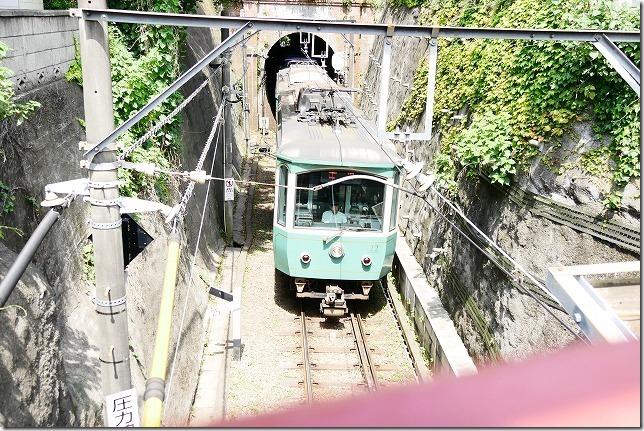 極楽寺トンネル(極楽洞)と江ノ電