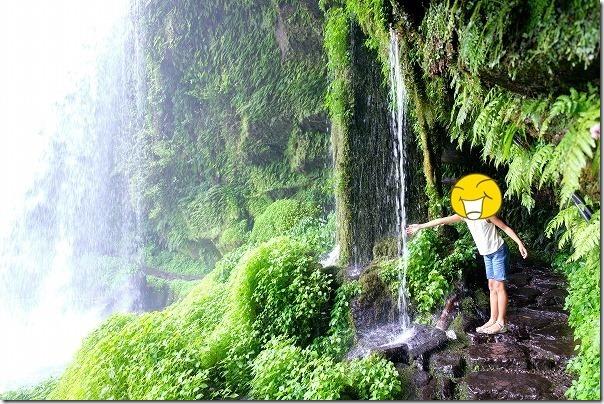 玖珠、慈恩の滝と子供