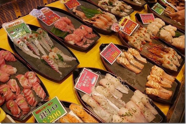 唐戸市場のお寿司と料金