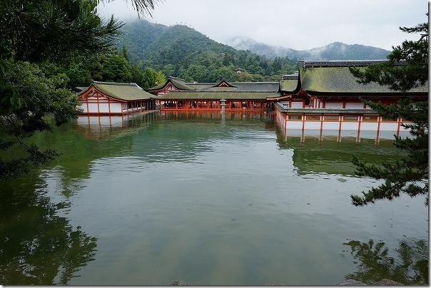 宮島の厳島神社が高潮