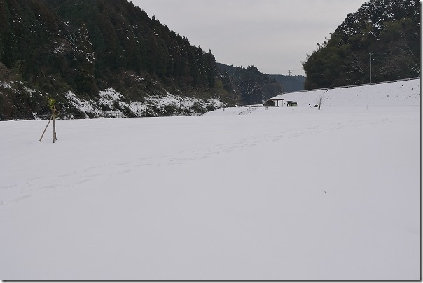 神水川栗並運動公園の雪景色