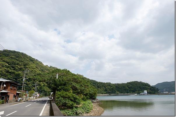 奄美大島,田検バス停の場所