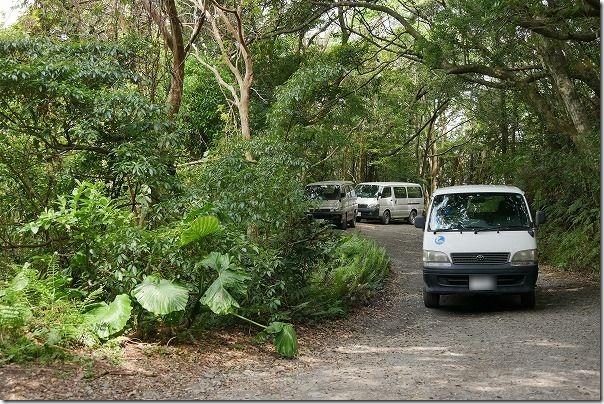 金作原原生林の駐車場
