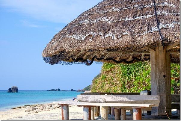 大浜海浜公園の白い砂浜