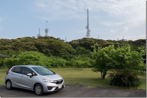 奄美大島、高知山展望台の駐車場