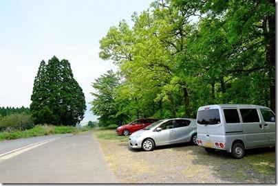 南阿蘇、久木野キャンプ場・マルデンの駐車場