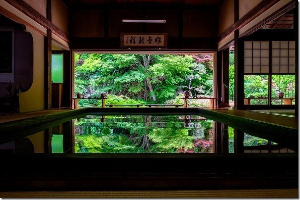 佐世保,寿福寺の逆さ新緑