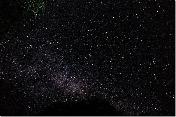 休暇村南阿蘇でキャンプ場、星空