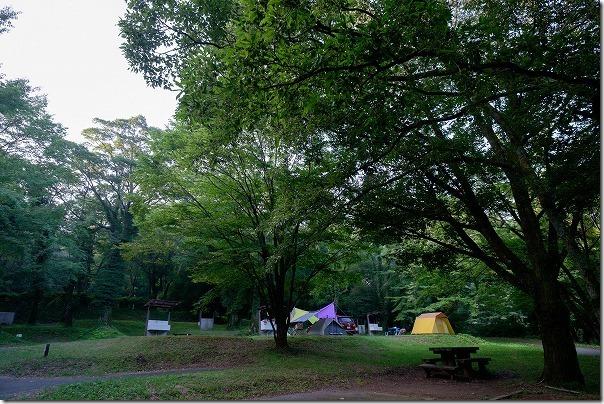 休暇村南阿蘇のオートキャンプ場