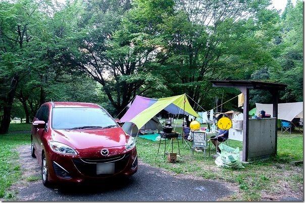 休暇村南阿蘇,オートキャンプ場(流し台付きエリア)