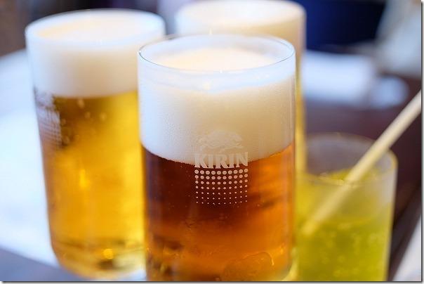 阿蘇の司ビラパークホテルの生ビール