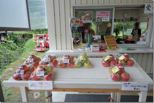 三瀬「まるじゅんりんご園」の売店