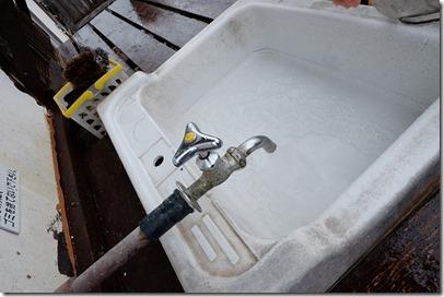 豊礼の湯で洗い場
