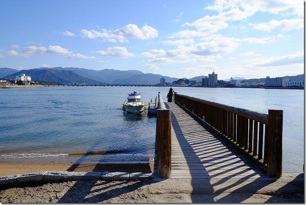 高島,宝当神社への海上タクシー乗り場