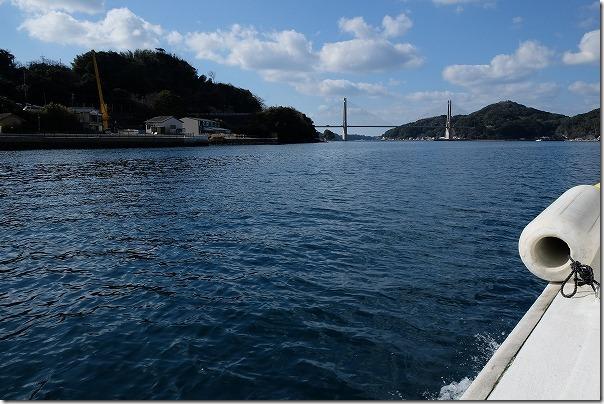 七ツ釜遊覧船イカ丸から呼子大橋