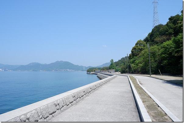 大久野島国民休暇村を出発