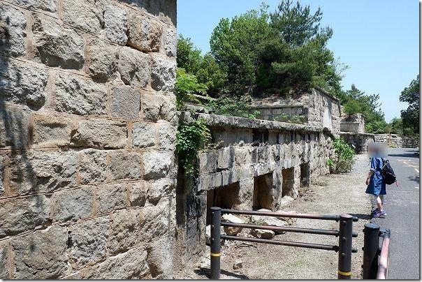 大久野島の北部砲台跡