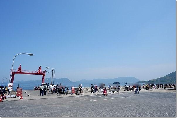 大久野島のフェリー乗り場(第二桟橋)