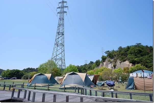 大久野島のキャンプ場付近