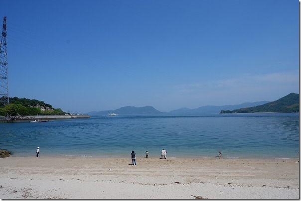 大久野島の海水浴場