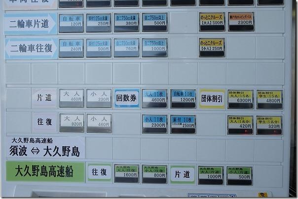 広島「うさぎ島」(大久野島)へ須波港から料金