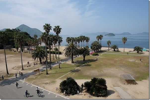 うさぎ島(大久野島)の国民休暇村からの眺め