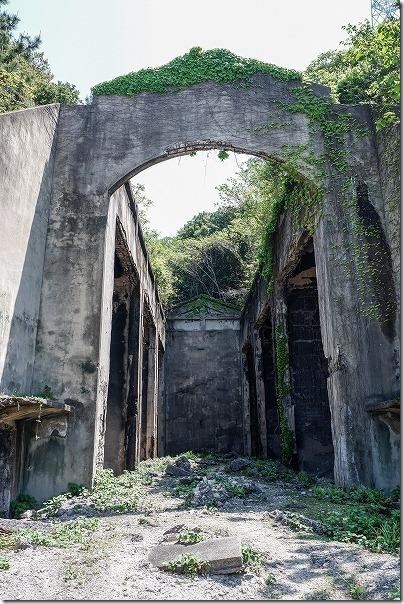 大久野島、長浦毒ガス貯蔵庫の跡