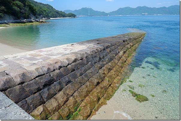 大久野島の旧桟橋跡