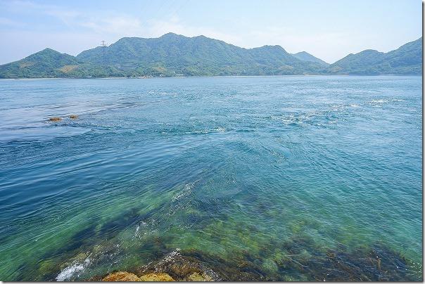 大久野島の急な海の流れ