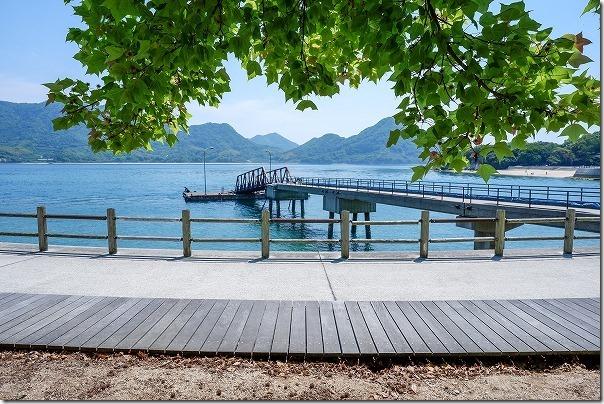 大久野島の高速船乗り場、第一桟橋
